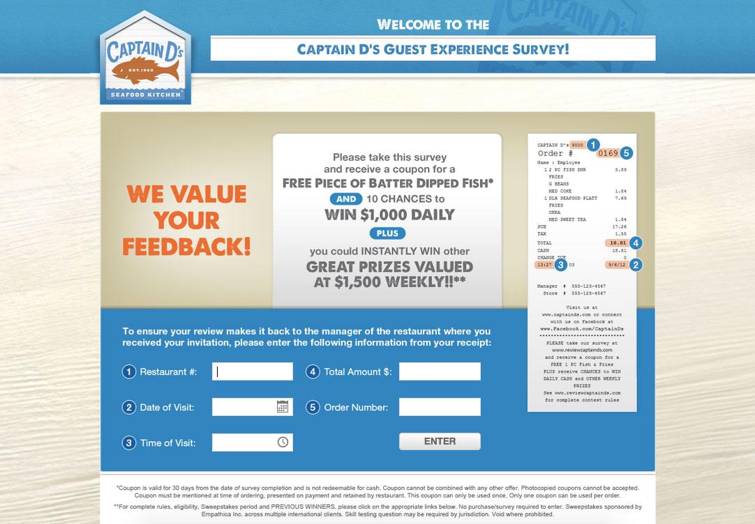 Captain D's Customer Survey