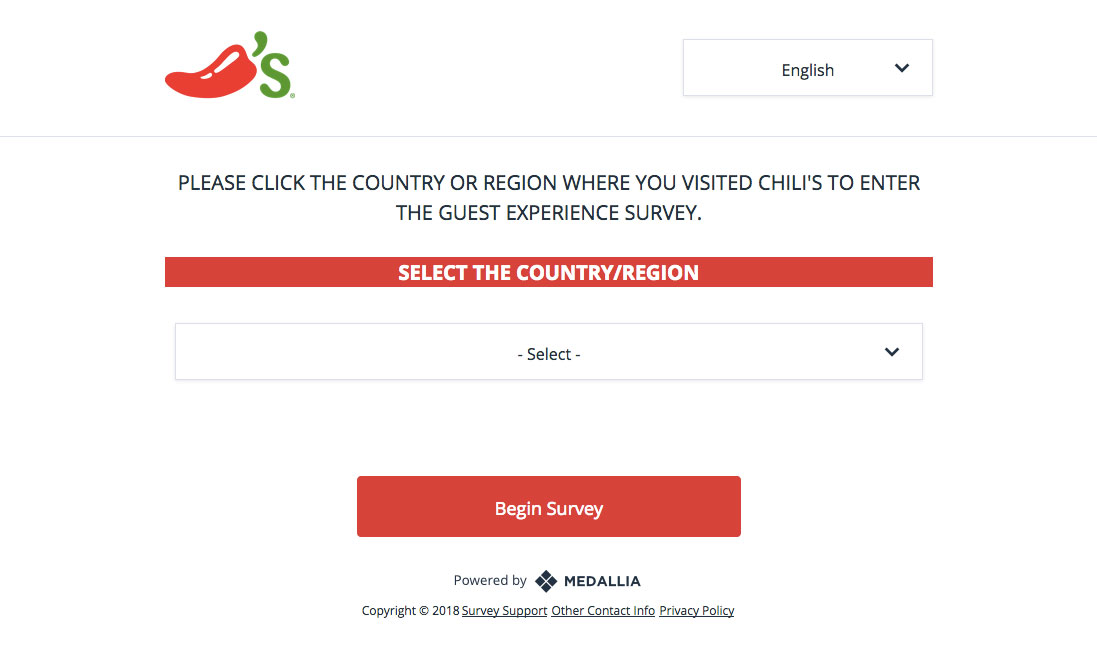 Chilli's Grill & Bar Guest Survey