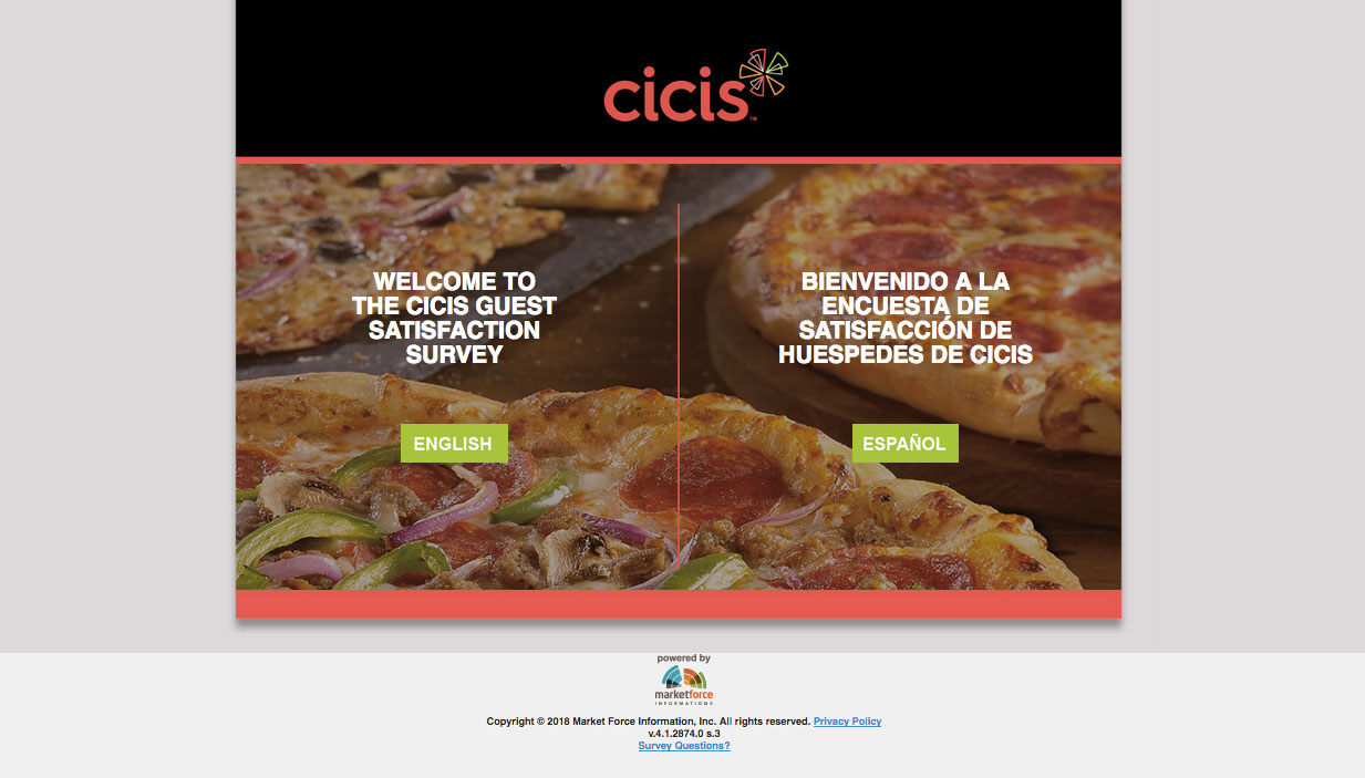 CiCi's Pizza Customer Satisfaction Survey