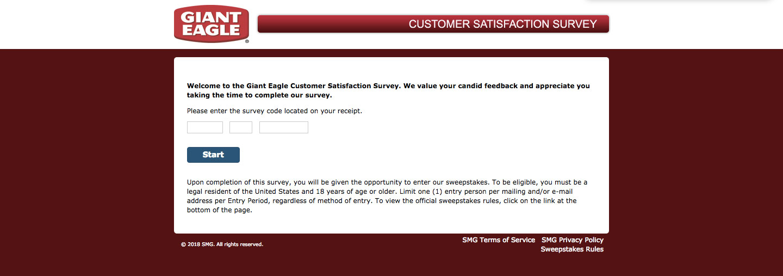 Giant Eagle Customer Satisfaction Survey