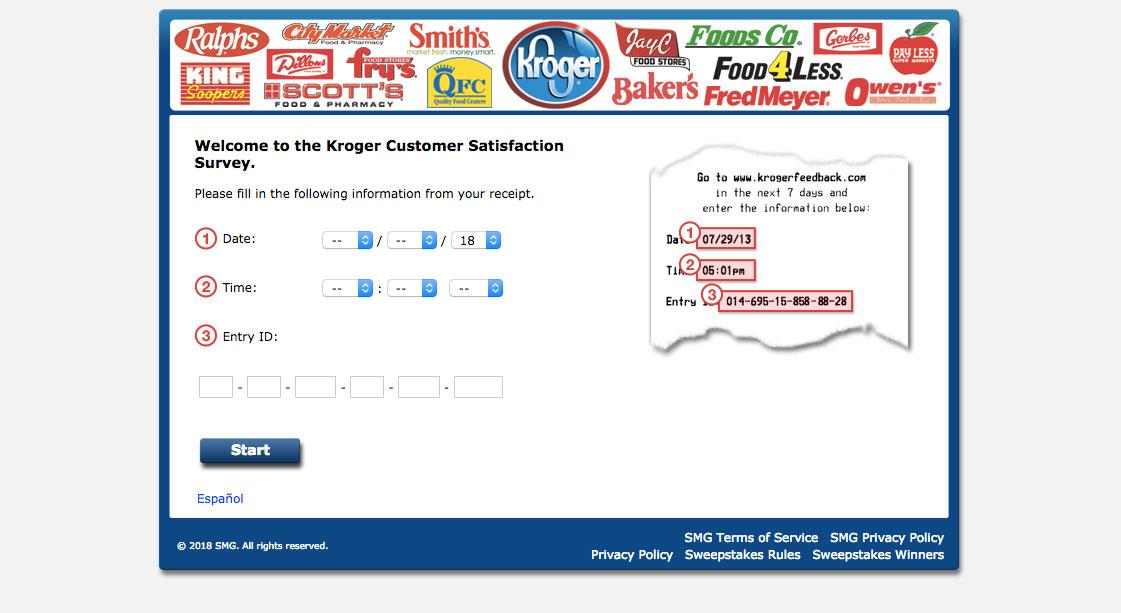 Kroger Guest Feedback Survey