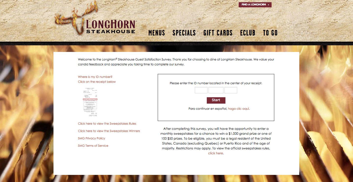 LongHorn Steak House Customer Feedback Survey