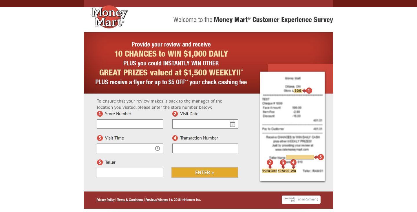 Money Mart Customer Experience Survey