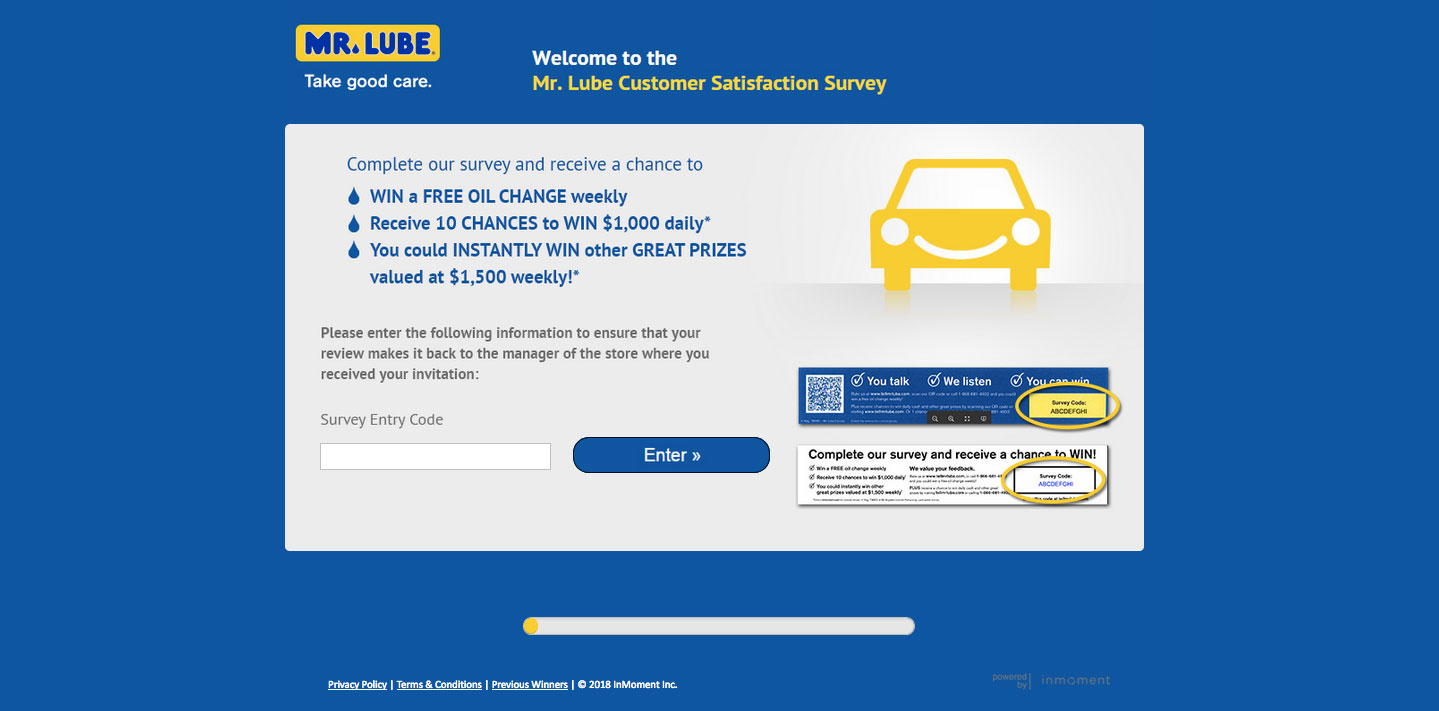 Mr. Lube Customer Experience Survey