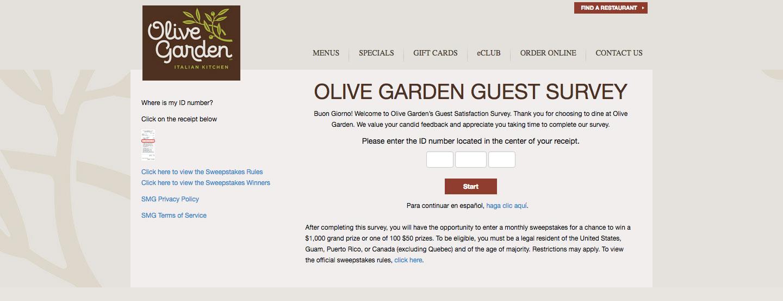 Olive Garden Client Experience Survey