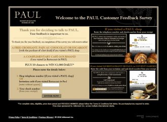 www.paul-feedback.com – Take PAUL Customer Feedback Survey & Win Prize