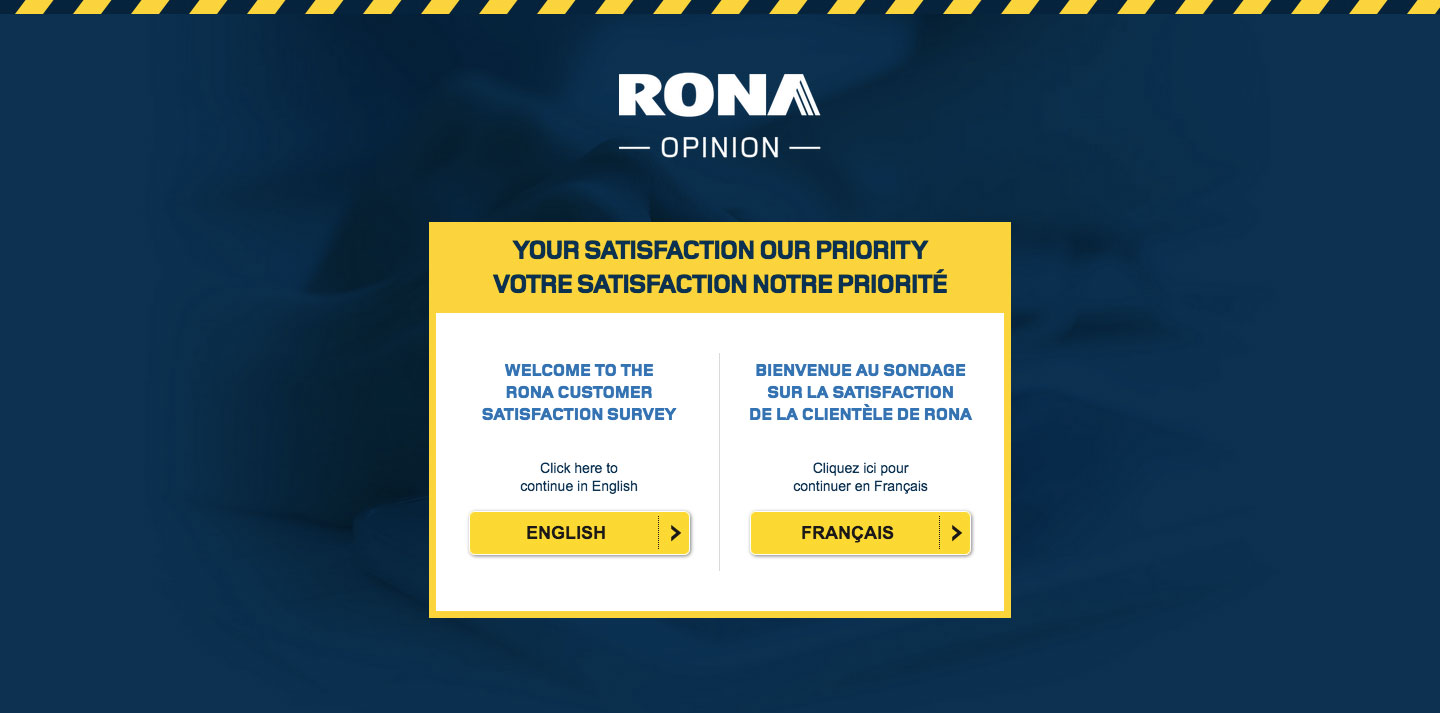 RONA Client Feedback Survey