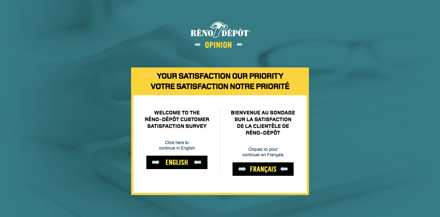 Reno Depot Client Satisfaction Survey