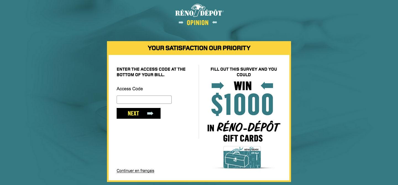 Reno Depot Client Satisfaction Survey