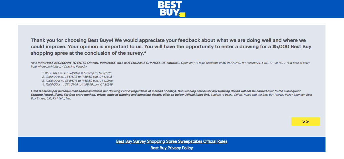 Satisfaction Survey of Best Buy Cares Deal