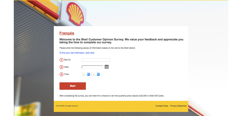 Shell Service feedback Survey