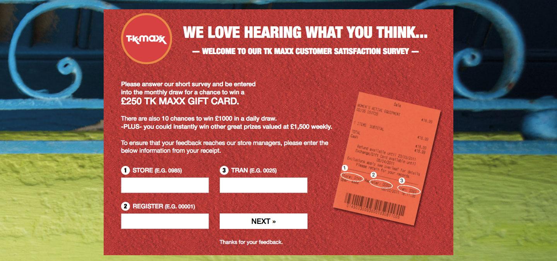 T.K. Maxx Customer Experience Survey