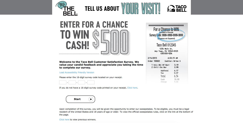 Taco Bell Client Feedback Survey