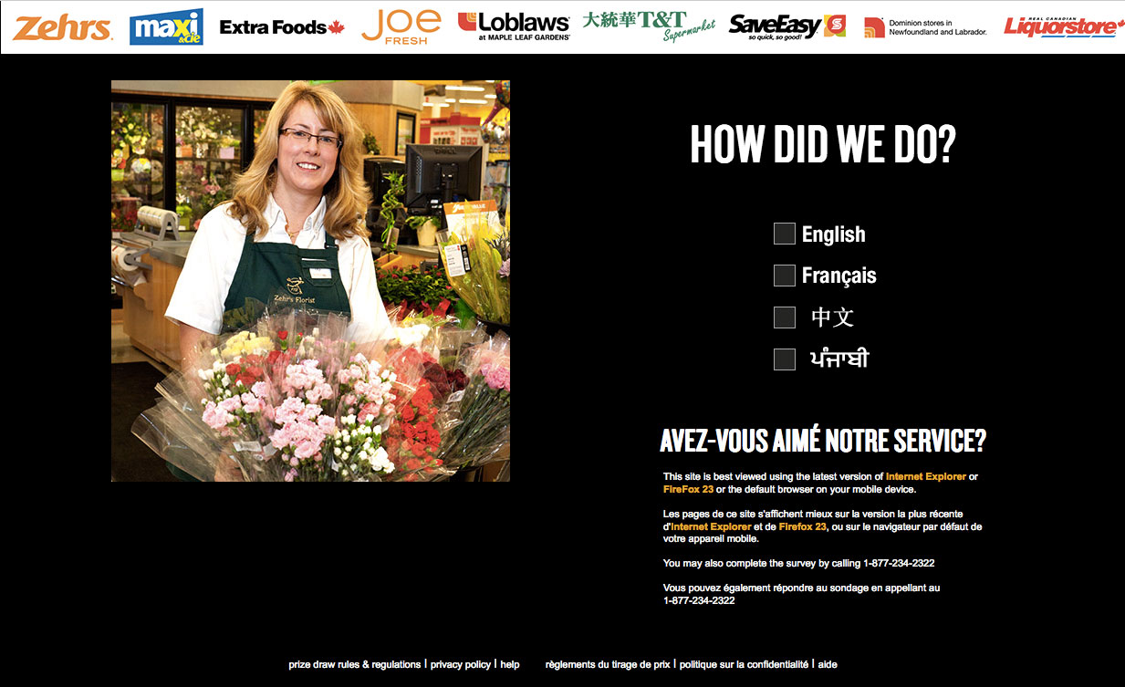 The Loblaw Customer Satisfaction Survey