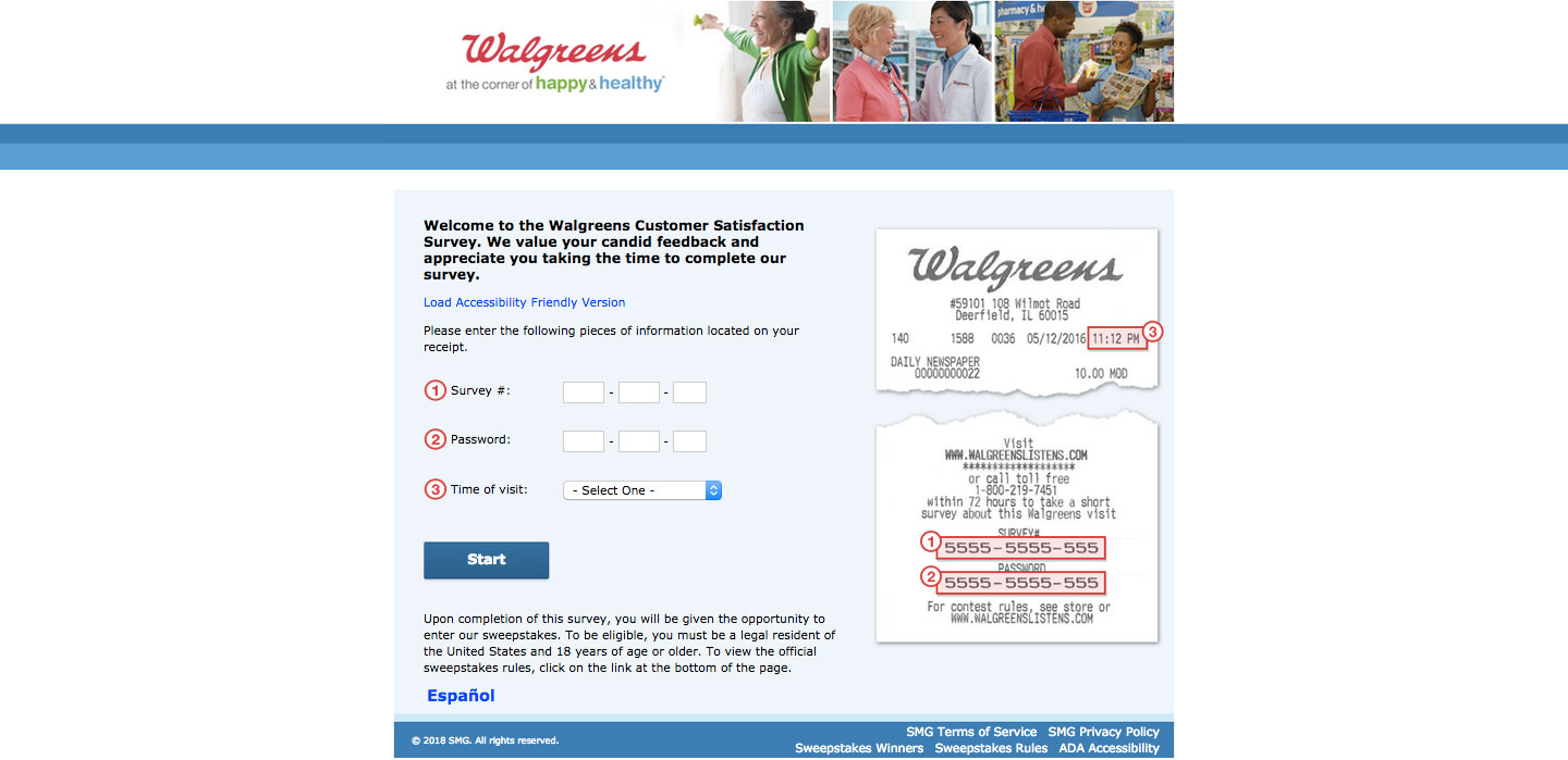 Walgreens Client Experience Survey
