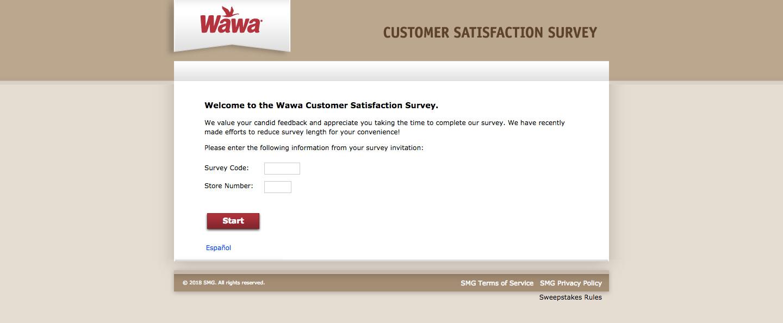 Wawa Client Feedback Survey