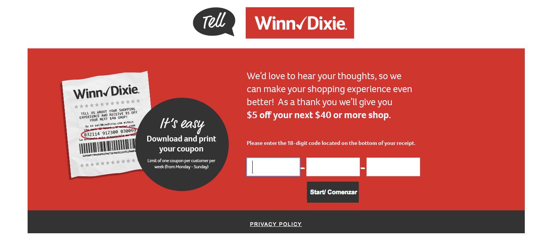 Winn-Dixie Guest Feedback Survey