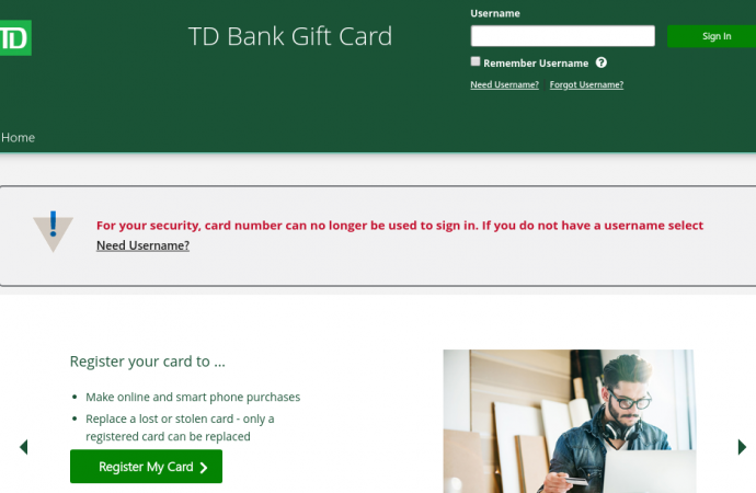 www.visaprepaidprocessing.com/TDBank/Gift – Manage To Your TD Bank Gift Card Account