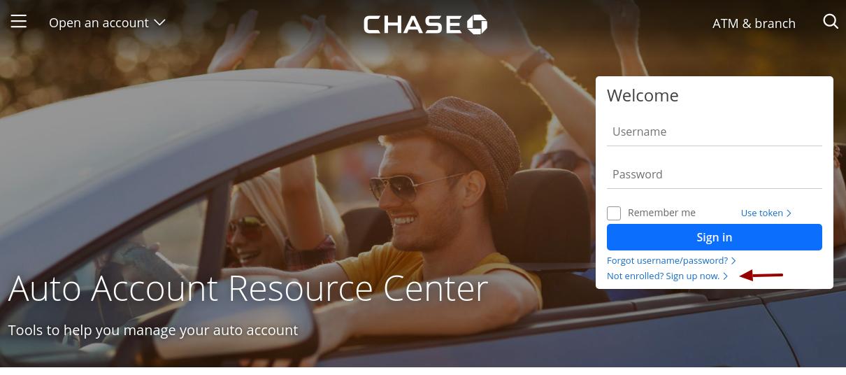 Chase Auto Loans Enroll