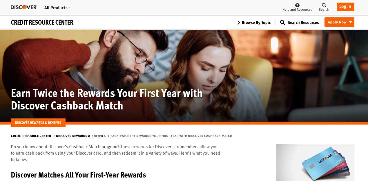 Earn Twice the Rewards with Discover
