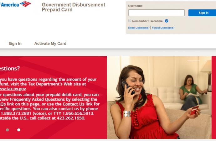 www.bankofamerica.com/nyrefund – How to Claim Bank of America Government Disbursement Prepaid Card