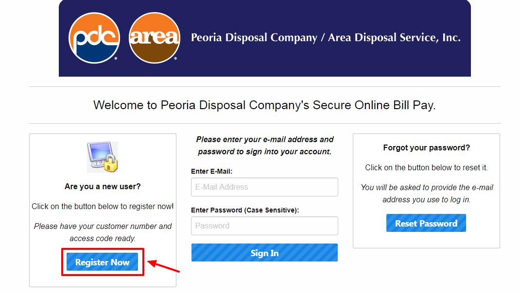 Peoria Disposal Online Bill Pay