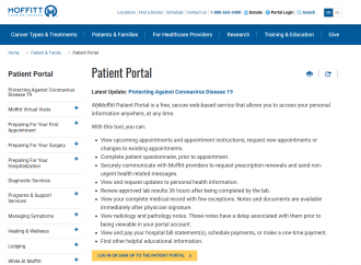 www.moffitt.org/patient-family/patient-portal – Moffitt Patient Login