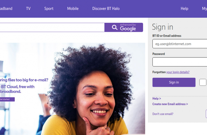www.bt.com – Login To Your BT Connect Email Account