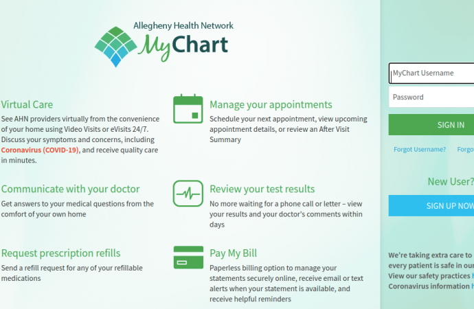 mychart.ahn.org – Login To Your MyChart Account