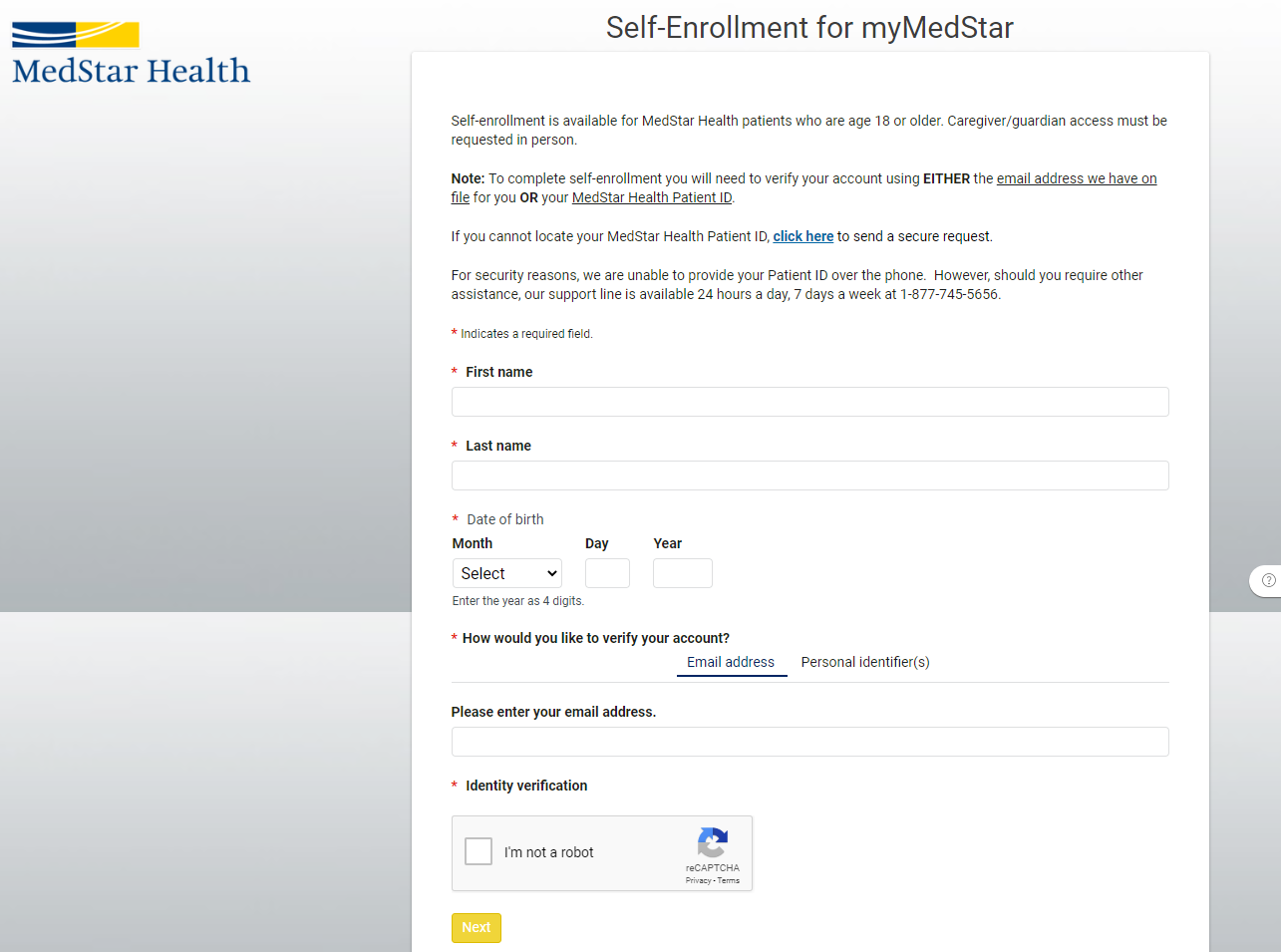 myMedStar_Self_Enrollment