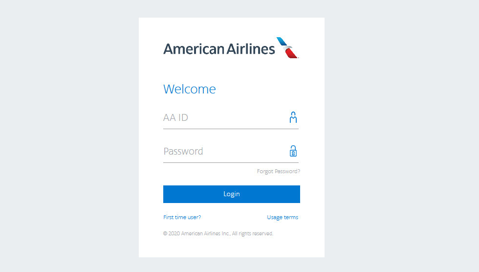 American Airlines Login