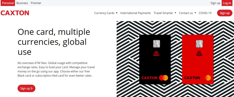 Caxton Card Account Open