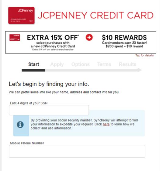JC penney MasterCard