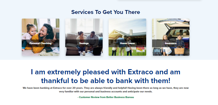 extraco banks customer service