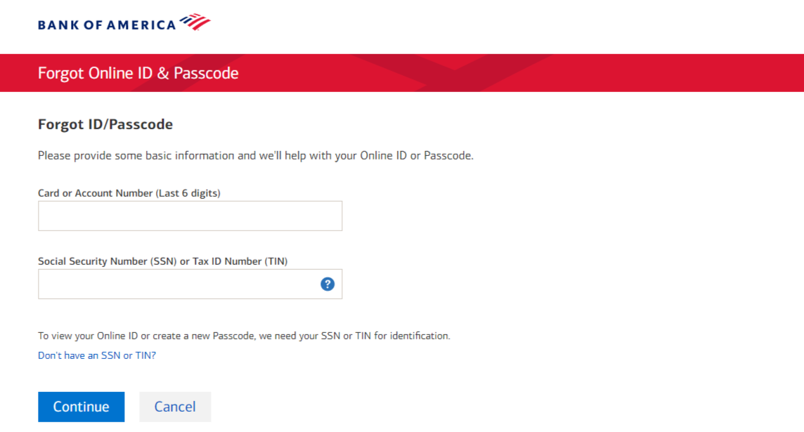 Bank Of America Credit Card Registration