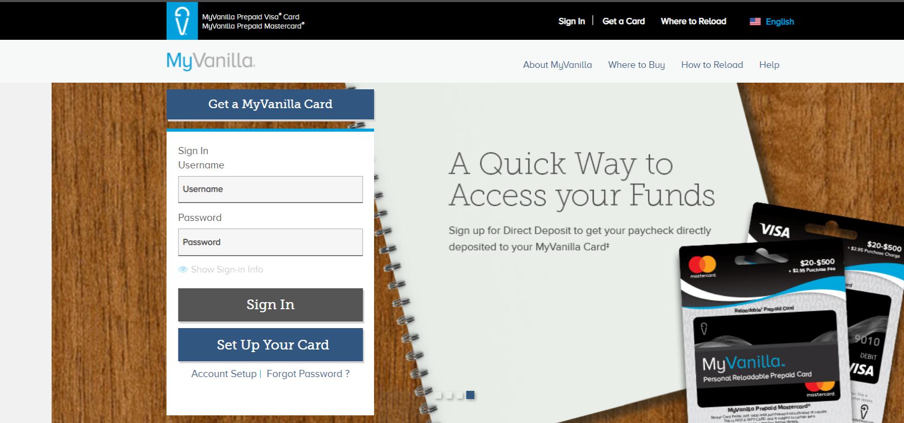 www.myvanillacard.com - My Vanilla Debit Card Login & Activation Guide