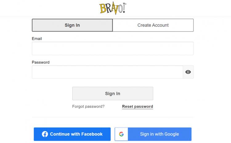 Bravo rewards login