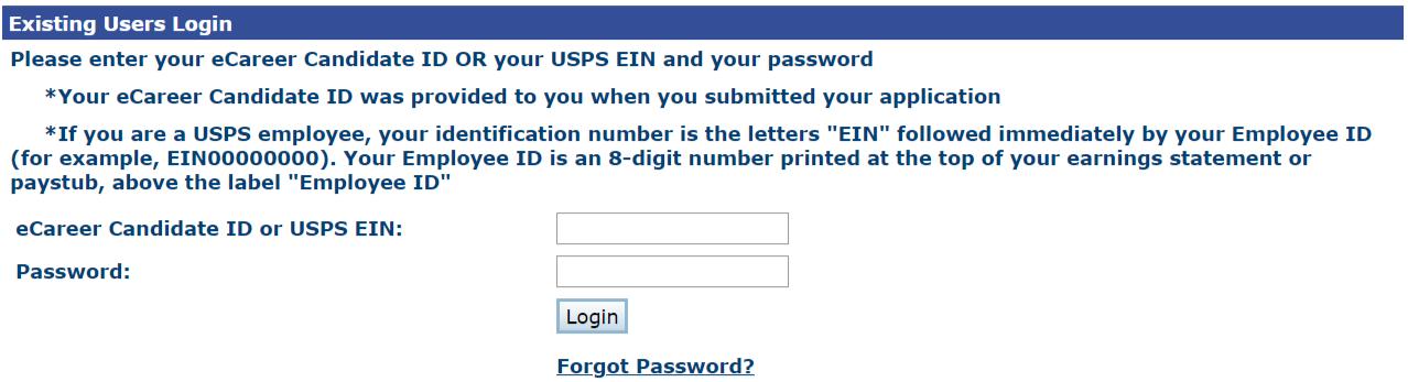 USPS Employee login