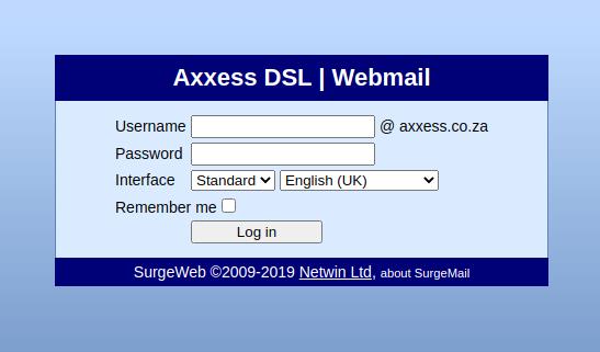 axxess webmail login